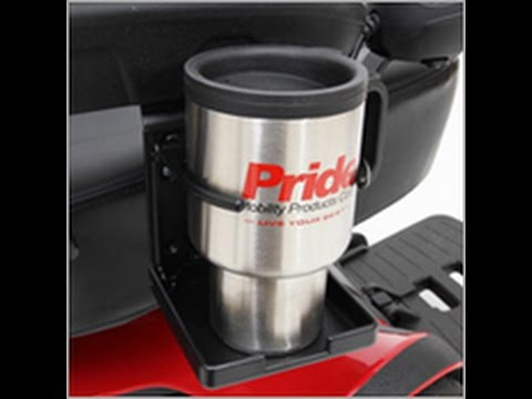 Pride Folding Cup Holder for Scooter or Power Wheelchair from TopMobility.com