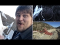 Drone in Idaho Springs of Waterfall and Argo Mine