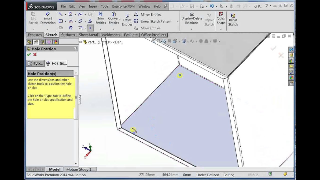 How To Draw Sheet Metal Box In Solidworks Youtube