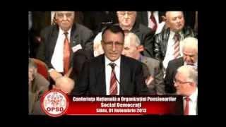 Paul Stanescu la Conferinta Nationala a Organizatiei Pensionarilor Social-Democrati - 01.11.2013