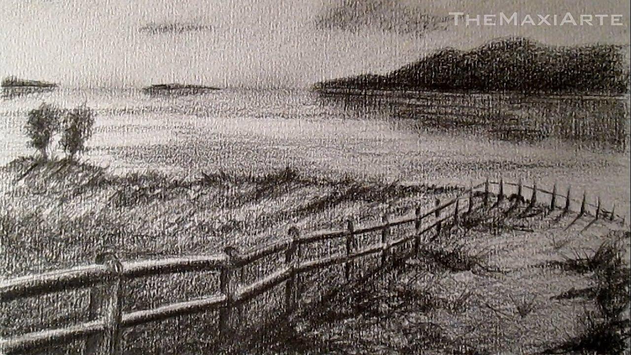 Cmo dibujar un paisaje realista a lpiz paisaje costero a lpiz