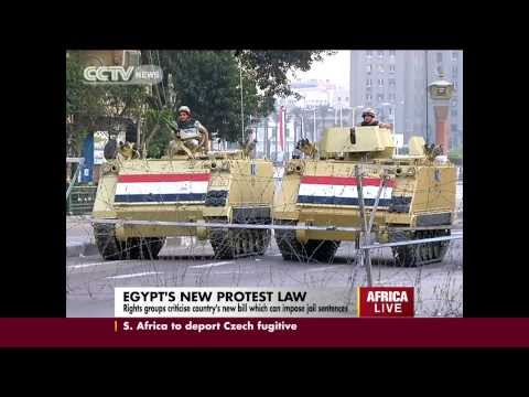 Egypt's new protest law criticized by right activists