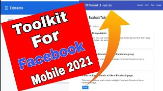 How To Use Toolkit For Facebook In Android | 100%  Full Update | Toolkit For Fb Kaise Use Kare 2021 screenshot 2