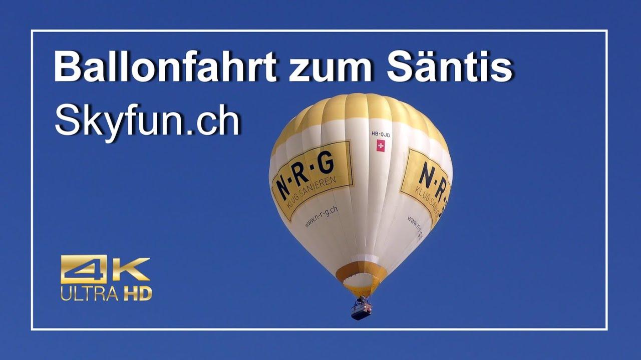 Ballonfahrt Säntis 4K Trailer Skyfun.ch