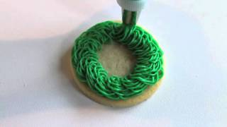 Easy Christmas Wreath Cookie