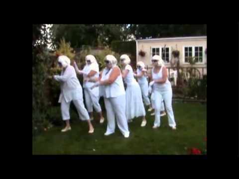 A group of friends dance to Lady Gaga's Bad Romance to celebrate a friends birthday.