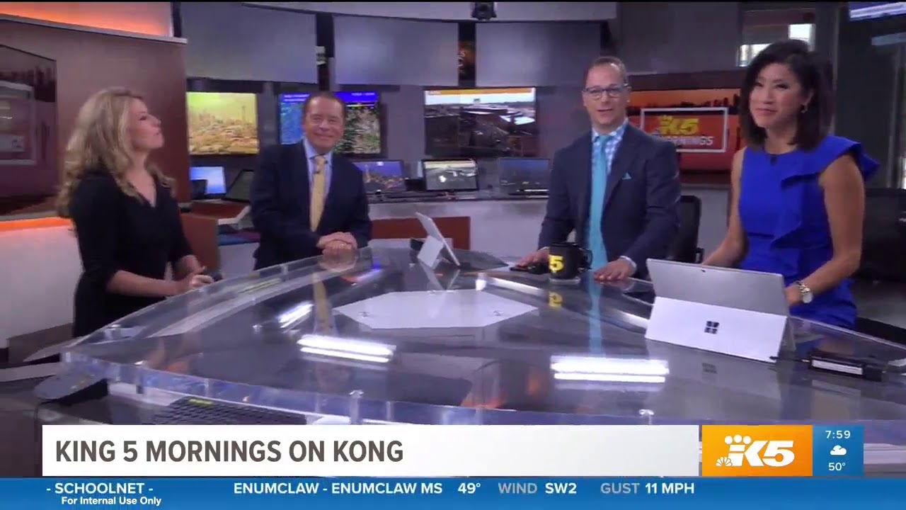 """6.4 """"kong tv (ind) """"king 5 morning news on kong"""" 7:59 a.m. - seattle"""