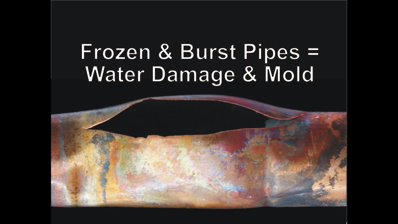 Frozen & Burst Pipes = Water Damage & Mold - YouTube