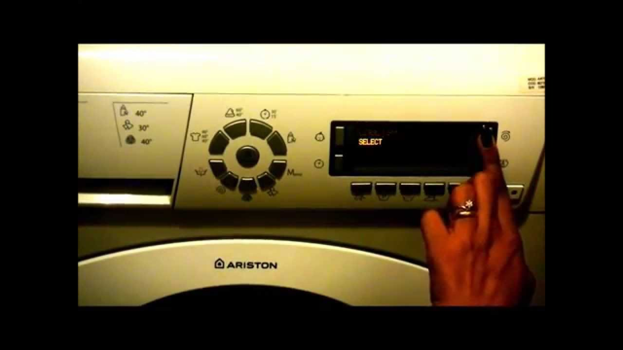 How To Change Language Settings For Ariston Washing Machines Youtube
