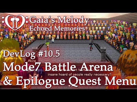 Gaia's Melody EM2 DevLog #10.5 - ULTRA MODE7 BATTLE ARENA & Epilogue Menu (RPG Maker MV)