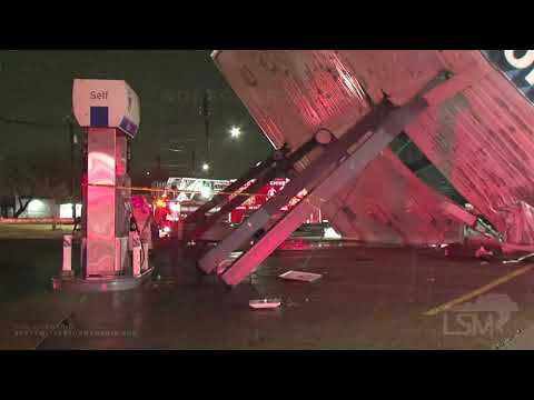 01-10-2020 Houston, TX - Destroyed Gas Station Canopy