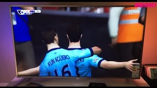 Playing FIFA (PS4) with Philips Ambilight 4K TV