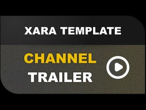 Xara Template Channel Trailer - Web Design, HTML and Windows 8 Tutorials