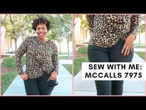 SEW WITH ME: MCCALLS 7975 FRONT TWIST TOP