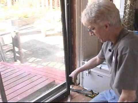 Replacing Sliding Glass Doors: Removing Door Panel - YouTube