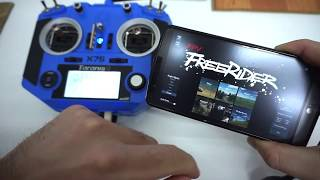 "Taranis Q X7S - Play ""FPV Freerider"" on Android via USB cable"