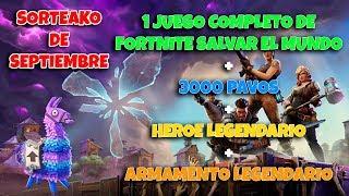 Sorteako from FORTNITE Save the World Game + 3000 Turkeys + Legendary Hero + Legendary Armament