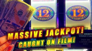 12 TIMES PAY MEGA JACKPOT! ★ GROUP PULL JACKPOT ➜ LAUGHLIN NEVADA HANDPAY!
