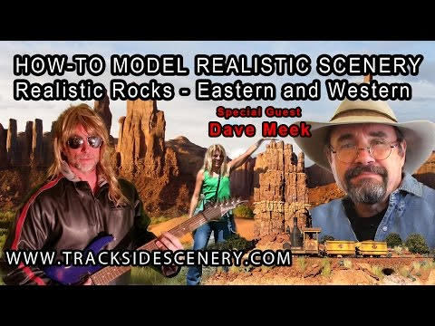 How-to Make Realistic Model Railroad Scenery – Rock Scenery!
