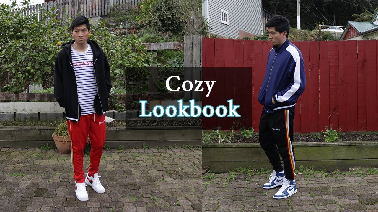 Cozy Lookbook w MintCrew Track Pants [Air Jordan, Nike AF1