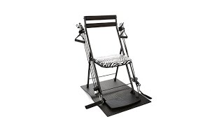 Chair Gym Deluxe w/Twister Seat, Mat   3 DVDs  Black