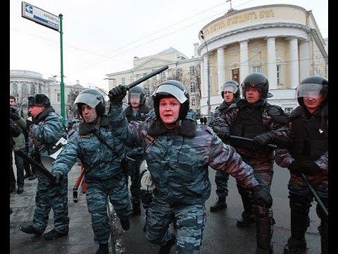 Беспорядки на Манежной площади 2010 ( 11 декабря, ОМОН бьет толпу)