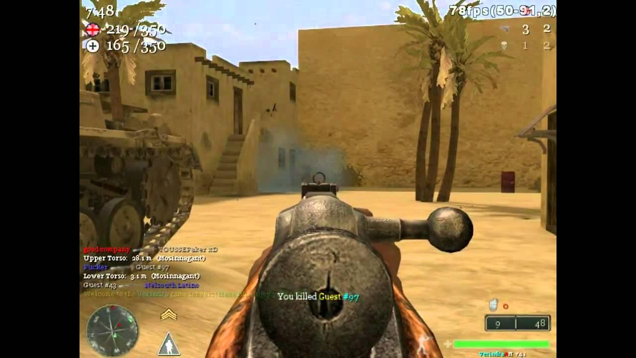 Call of Duty 2 MultiPlayer - Fucker & YoussefxD vs Public server