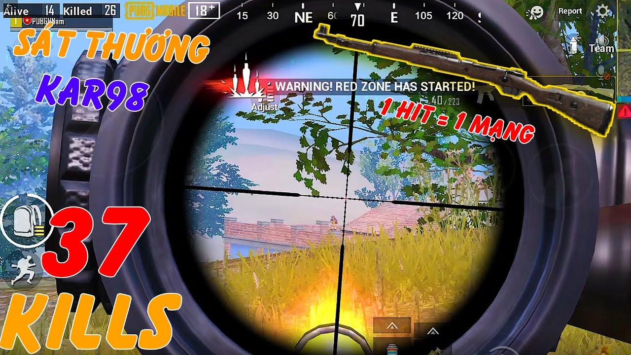 Kar98 AIM Đầu Sẽ Như Thế Nào Nhỉ😥😥😥 | Solo Squad 37 KILLS | PUBG MOBILE