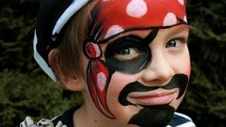 Repeat youtube video Pirate face painting tutorial - Fun and easy pirate makeup
