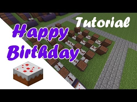 Happy Birthday | Minecraft Note Block Song & Tutorial | PC, XBOX, PS3 |