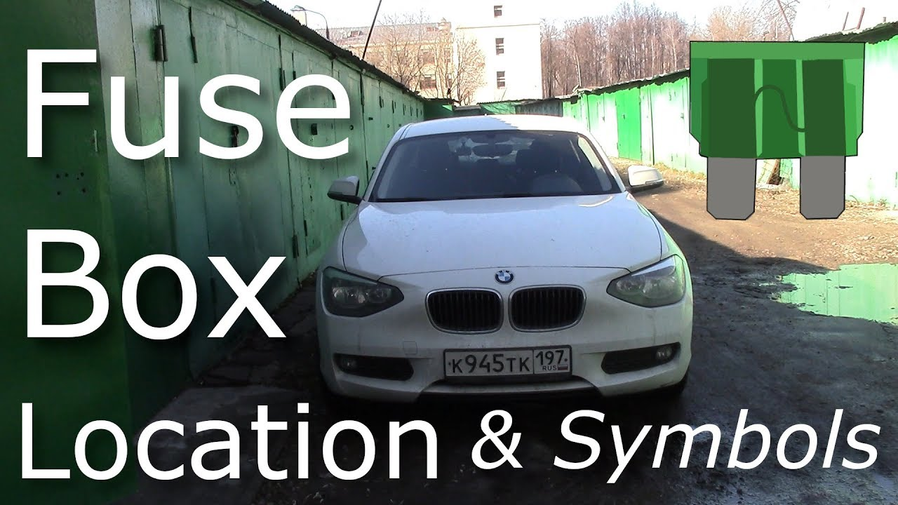 where is the fuse box on my bmw f20 f21 1 series  fuse box symbols