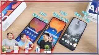 รีวิว Samsung A10 vs A20  vs A30 เลือกซื้อรุ่นไหนดี ??