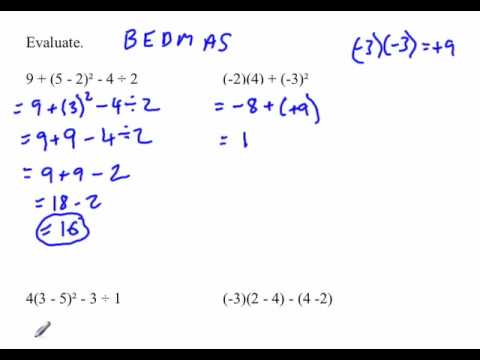 Order Of Operations With Integers Add Subtract Multiply