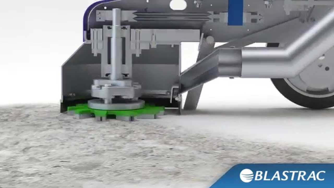 A Single Disc Concrete Floor Grinder Blastrac Surface Preparation Animation