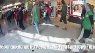 Action contre l'ouverture des magasins le dimanche à Bruxelles 24/05/2015
