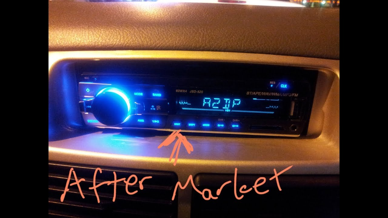 Swapping Perodua Viva's Stereo on