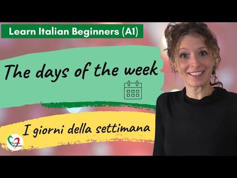 Learn Italian: Days of the week