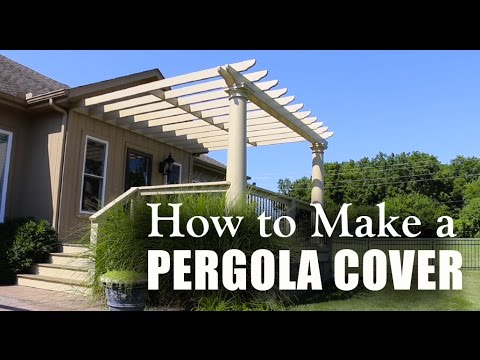 How To Make A Pergola Cover Youtube