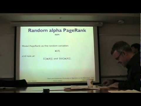 David F. Gleich - Models and Algorithms for PageRank Sensitivity - Ph.D. Defense