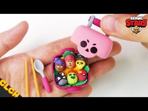 Making Brawl Stars SAKURA SPIKE'S LUNCH BOX Miniature - Clay Tutorial🌸🍱
