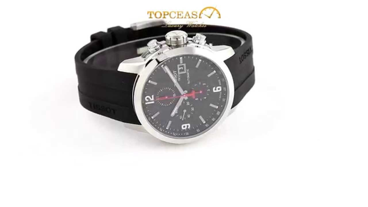 Tissot Prc 200 Chronograph Mens Stainless Steel Bracelet Watch T0554301105700 Black Automatic Review Gents