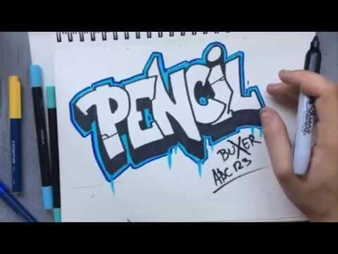 Graffiti Schrift Abc Alphabet Alle Buchstaben Zeichnen