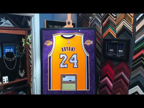 a5ced44d160 Framing a Signed Kobe Bryant Black Mamba Lakers Jersey with Custom Patches