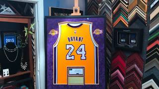 Framing a Signed Kobe Bryant Black Mamba Lakers Jersey with Custom ...