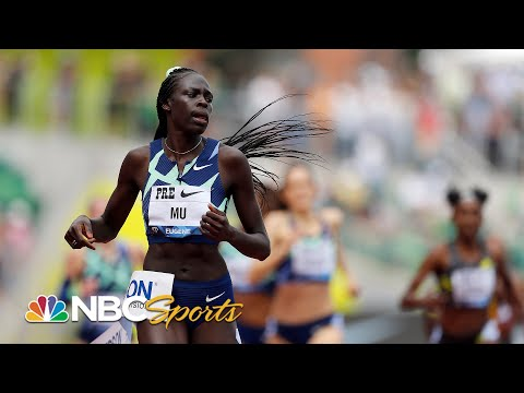 Athing Mu smashes U.S. record in women's 800m win at Prefontaine Classic | NBC Sports