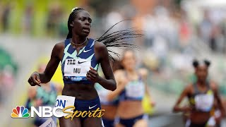 Athing Mu smashes U.S. record in women's 800m win at Prefontaine Classic