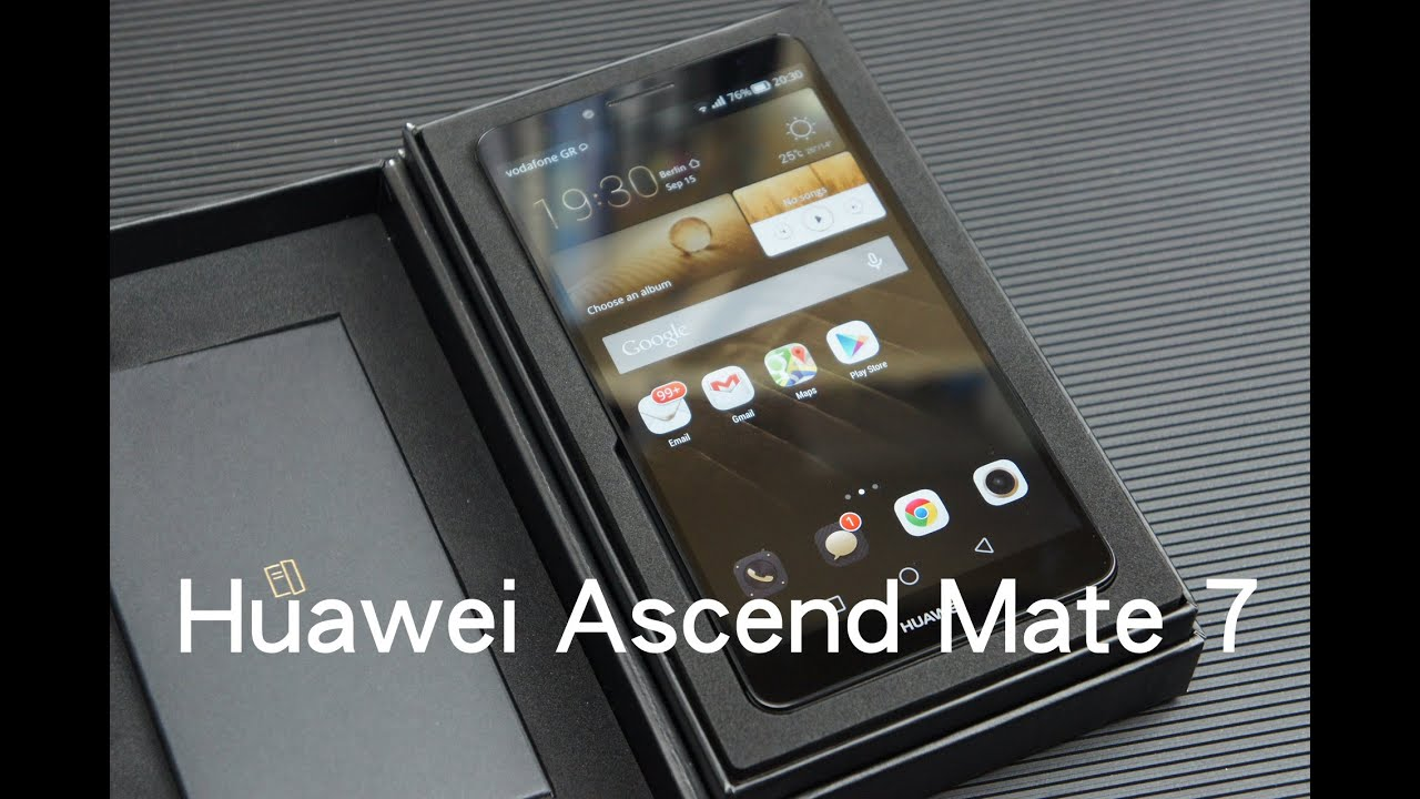 Huawei Ascend Mate 7 unboxing (Greek) - YouTube