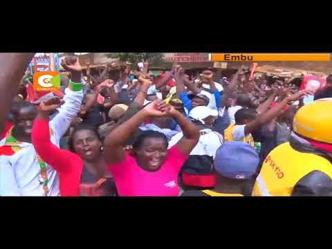 Jubilee supporters celebrate Kenyatta victory