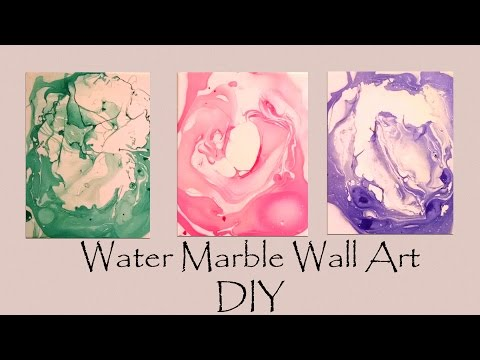 DIY Water Marble Wall Art-- SO Easy!
