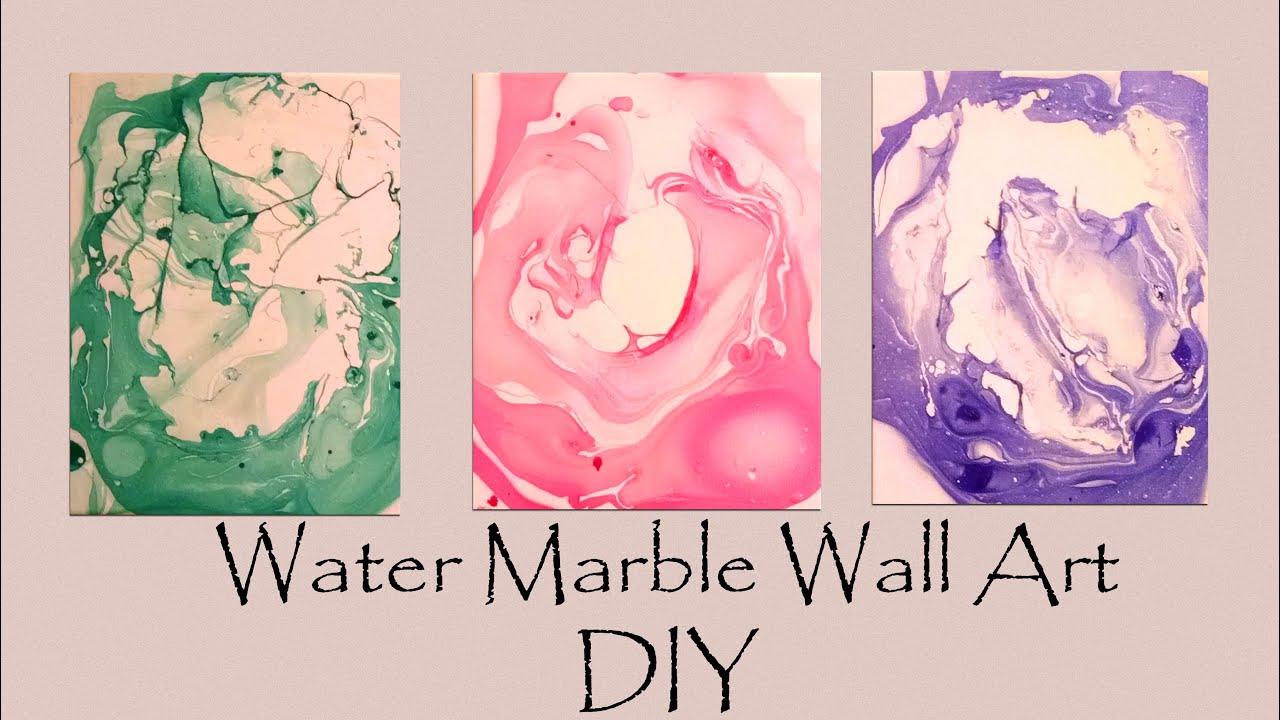 DIY Water Marble Wall Art-- SO Easy! - YouTube